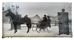 Winter travel in Westerville, Ohio...the Schrock family farm, located where Sharon Woods Metro Park is today.