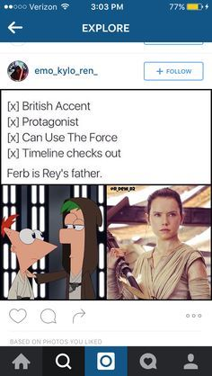 Star Wars: The Force Awakens and Phineas and Ferb humor <><> OH MY GOODNESS. YES.