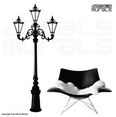 Wall+decal+ANTIQUE+STREET+LAMP+Vinyl+stickers+wall+by+decalsmurals,+$67.00