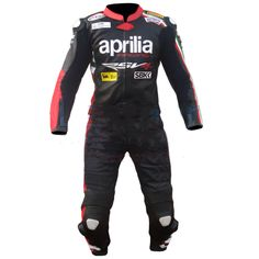 Aprillia Motorcycle two piece suit, made from premium quality cowhide leather and equipped with CE approved 9 piece protection. Available for sale at lopeholt.com.  You can also order just the jacket for 333$.