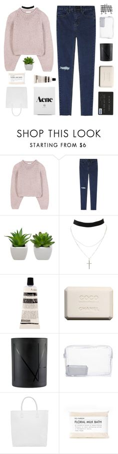 """IT WAS JUST LIKE A MOVIE"" by expresng ❤ liked on Polyvore featuring Chloé, Charlotte Russe, Aesop, Chanel, NARS Cosmetics, Topshop, Creatures of Comfort and Fig+Yarrow"