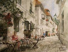 Kunstneren i Bergen: Nedre Fjellsmauet I Bergen