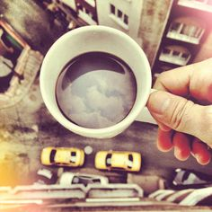 A cup of morning coffee. #coffee #photography #travel. This photo though.. Credits to the person who took this, this is amazing !