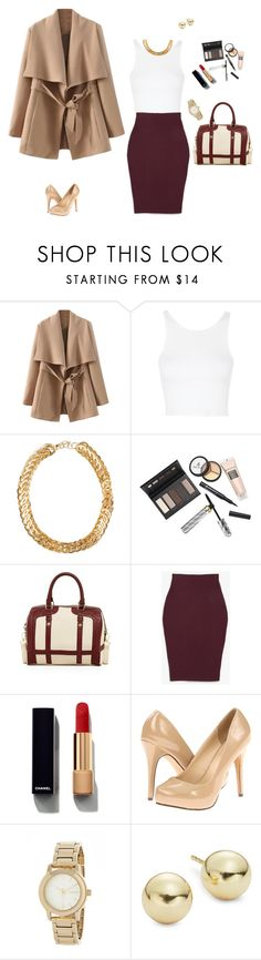"""""""Daily office look #work #lunch #woman"""" by clauxsanchex on Polyvore featuring moda, Topshop, SELECTED, Borghese, Steve Madden, The Fifth Label, Chanel, Michael Antonio, DKNY y Lord & Taylor"""