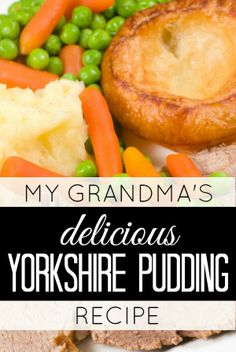 Whether you're hosting a dinner party, or making a small roast for your family, you don't want to skip my grandma's delicious, easy-to-make, 4-ingredient yorkshire pudding recipe!