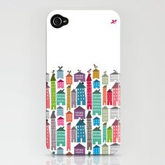 an iPhone case . . . with buildings AND birds; must have