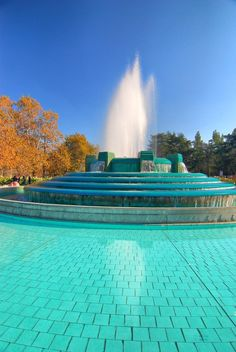 Mullholland Fountain in LA CAL.