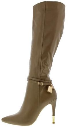 CRYTICQUEEN NUDE LOCK AND KEY POINTED BOOT ONLY $23.88