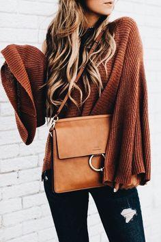 Chic tan handbag.