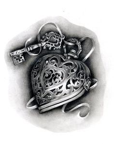 Heart Locket Tattoo Flash | heart locket tattoo | Tumblr