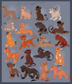 Lion King Cub Adoptables by Kitchiki on DeviantArt