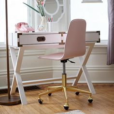 Class Act Mint U0026 Gold Desk Chair