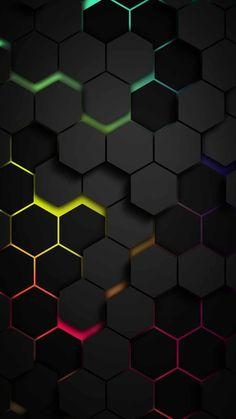 Hexagon Colors iPhone Wallpaper - iPhone Wallpapers
