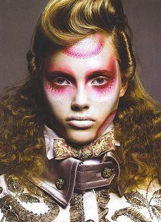Avant-garde makeup look. http://www.facebook.com/pages/Art-of-street/144938735644793?ref=ts=ts