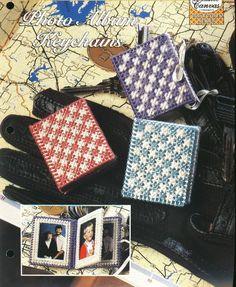 Photo Album Keychains Plastic Canvas by needlecraftsupershop, $3.50