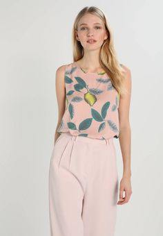 """ATARA - Blouse - sepia rose. Outer fabric material:100% viscose. Total length:23.0 """" (Size 10). Length:normal. Pattern:Print. Fit:regular. Neckline:round neck. Our model's height:Our model is 71.0 """" tall and is wearing size 10..."""