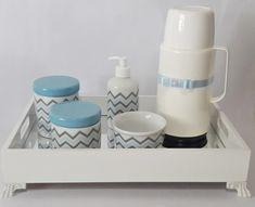 Kit higiene bebê com bandeja espelho
