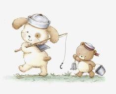 Baby Illustration, Illustrations, Animal Drawings, Cute Drawings, Cute Cartoon, Cartoon Art, Baby Animals, Cute Animals, Tatty Teddy