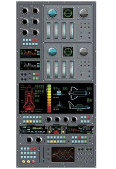 Spaceship Control Panel Peel and Stick Wall Mural - http://www.theboysdepot.com/spaceship-control-panel-peel-and-stick-wall-mural.html