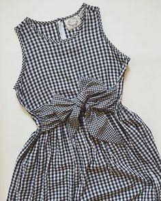 ↝ coming soon / resort collection: black and white gingham print dress #minminvintageshop #vintage #vintagedress
