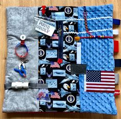 Excited to share this item from my #etsy shop: Proud AIR FORCE VETERAN, Alzheimer's Fidget Blanket, Dementia, Stroke by Restless Remedy Dementia Care, Alzheimer's And Dementia, Christmas Gifts For Grandma, Grandma Gifts, Saving Coins, Sensory Book, Fidget Blankets, Fidget Quilt, Lap Quilts