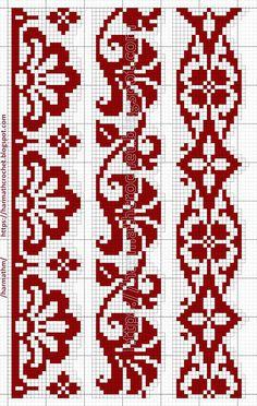 Tapestry Crochet Patterns, Fair Isle Knitting Patterns, Bead Loom Patterns, Modern Cross Stitch Patterns, Knitting Stitches, Cross Stitch Designs, Cross Stitch Boarders, Cross Stitch Bookmarks, Cross Stitch Art