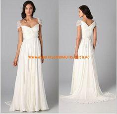 Kolumne Schlichtes Brautkleid 2013 aus Chiffon