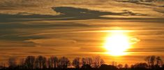 #abendstimmung #afterglow #clouds #distant #dusk #evening #evening hours #evening sky #mood #panorama #romance #romantic #setting sun #sky #sun #sunlight #sunset #trees #winter #winter sun