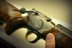 Blaser R 8 African Buffalo Engraving by Dassa Brothers Italy - Bulino Italian style and relief enamels