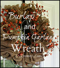 Tutorial for Burlap Wreath ... can be decorated for any season