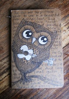 Owl and the pussycat moleskin #owl #pussycat #notebook