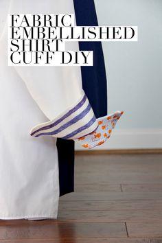 How to Embellish a Shirt Cuff - handmade men's Valentine's Day gift idea!!