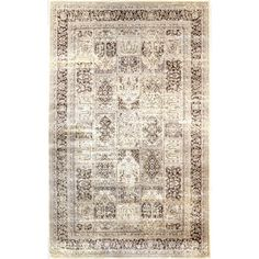 nuLOOM Oriental Vintage Viscose Modern Panel Brown Rug (5'2 x 8') - Overstock™ Shopping - Great Deals on Nuloom 5x8 - 6x9 Rugs