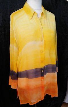 #twitter#tumbrl#instagram#avito#ebay#yandex#facebook #whatsapp#google#fashion#icq#skype#dailymail#avito.ru#nytimes #i_love_ny     Womens-LAUREL Blouses Long Sleeve  Yellow-  Silk 100%  Size-XXL #LAUREL #Blouse #Casual