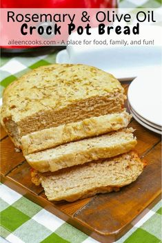 Did you know you can make bread in your slow cooker? You sure can! Try this recipe for crock pot bread - it's a delicious yeasted bread with olive oil and rosemary. Plus, this homemade bread cooks in your crockpot in just 2 1/2 hours!
