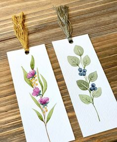 Excited to share this item from my shop: Watercolor Bookmark Set of original watercolor art botanical illustration art inspirational quot Watercolor Bookmarks, Watercolor Cards, Watercolor Flowers, Watercolor Paintings, Watercolor Books, Watercolor Drawing, Watercolors, Art And Illustration, Botanical Illustration