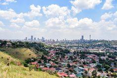 A partly cloudy Jozi skyline Cape Town, Dolores Park, Skyline, Photography, Travel, Fotografie, Photograph, Viajes, Photo Shoot