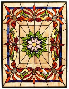 Kaleidoscope Tiffany-style Art Glass - suggests some applique design possibilities