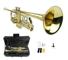 Nickel Silver Slide Trombone,Hard Case,Tuner,Stand New BB Gold Brass