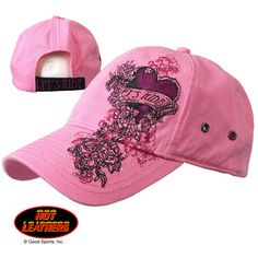 Ladies Lets Ride Heart Pink Ball Cap Harley Gear 9f4d1e59569a