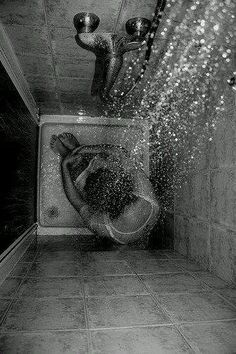 Times when you imprison yourself inside the bathroom. Some thoughts really just breaks everything.