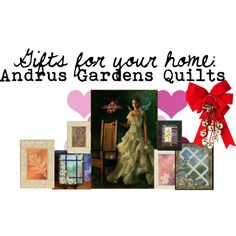 """""""Gifts for your home: ANDRUS GARDENS QUILTS"""" by andreadesigns1 on Polyvore"""