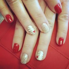 Valentine's Day Nails by @The Haute Spot Nail Boutique.