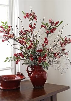Nice arrangement with lighted branches: Iron Accents Christmas Vases, Christmas Flowers, Christmas Tablescapes, Christmas Centerpieces, Christmas Holidays, Christmas Wreaths, Christmas Decorations, Simple Christmas, Winter Floral Arrangements