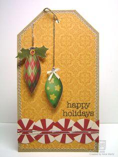 happy holidays tag - Scrapbook.com - Great holiday tag! #scrapbooking #tags #holiday