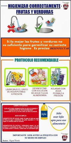 Higienizar correctamente frutas y verduras #seguridadalimentaria