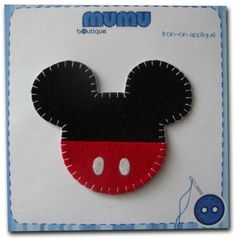 Mickey iron-on appliqué by mumu boutique on Etsy, $5.50