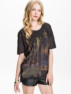 Diana T - Shirt - Replay - Dark Grey - Tops - Clothing - Women - Nelly.com Uk