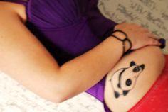 Panda tattoo.