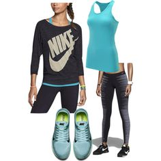 Just Do It by kerriolkjer on Polyvore featuring NIKE, women's clothing, women's fashion, women, female, woman, misses, juniors, fitness and nike